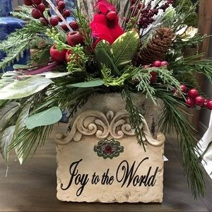 Christmas Joy to the World Plaque NWT
